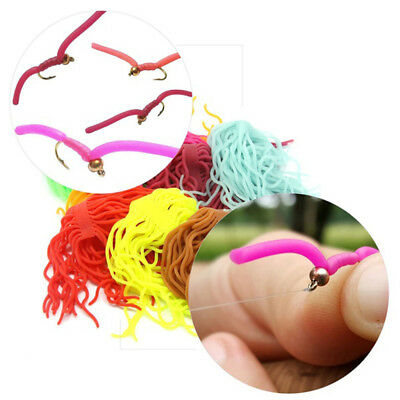 Fishing Silicone  Lure Baits for Squirmy Wormy Worm Body Fly Tying Materials