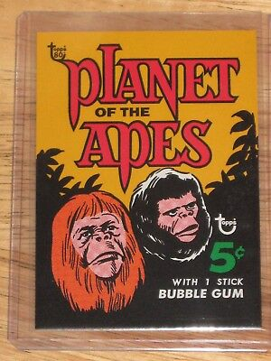 Topps 80th Anniversary No. 46 Planet Of The Apes Wrapper Card  Sold Out  Run 304