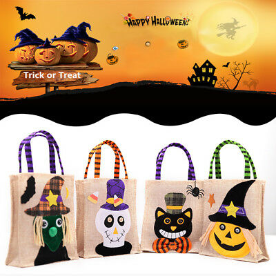 Cute Halloween Pumpkin Witches Trick or Treat Candy Bag Candy Gift Pouch Handbag