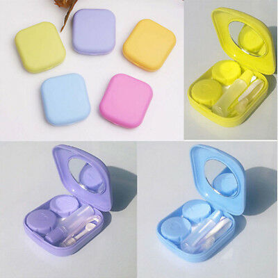Travel Portable Cute Mini Storage Contact Lens Holder Case Mirror Box