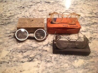 Vintage American Optical AO Wilson Safety Glasses Streampunk Motorcycle Goggles