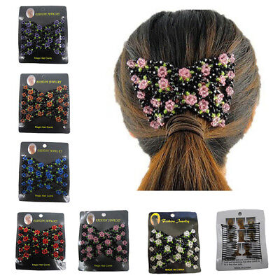 1PCS Magic Hair Slide Easy Double Beads Stretchy Hair Comb Clip Stretchable
