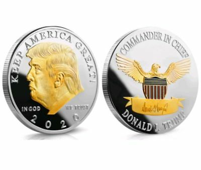 US President Donald Trump 2020 KEEP AMERICA GREAT Silver&Gold Eagle Coin
