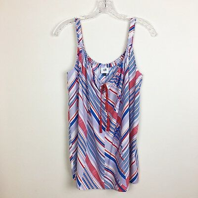 NWOT CABI Women's Tassel Tank #5230 Top Size Small Red Blue White Stripe Blouse