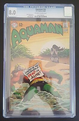 Aquaman #45 - (May-Jun 1969, DC) - CGC 8.0