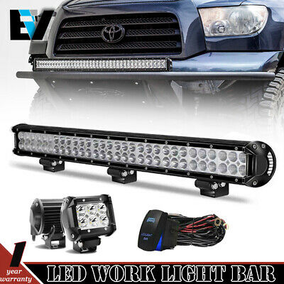 For 05-17 Toyota Tacoma Hidden Bumper 30inch LED Light Bar Bracket Wiring Kit