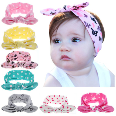 1/2/3Pcs Kid Baby Toddler Girls Bow Headband Hair Band Accessories Dots Cute