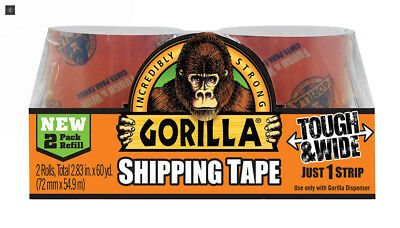 "Gorilla Packing Tape Tough & Wide Refill, 2.83"" x 30 yd, 2 Rolls"