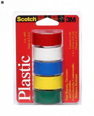 Scotch Super Thin Waterproof Vinyl Plastic Colored Tape.75-Inch by 125-Inch,...