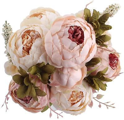 Duovlo fake flowers vintage artificial peony silk flowers wedding duovlo fake flowers vintage artificial peony silk flowers wedding home mightylinksfo