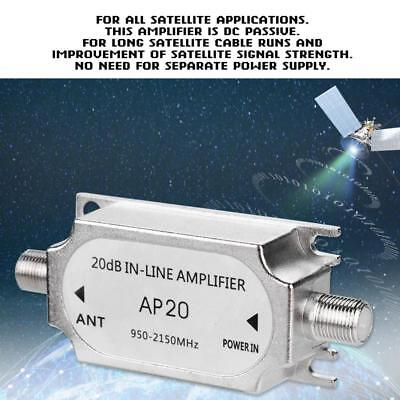 Satellite 20dB In-line Amplifier 950-2150MHZ Signal Booster For Antenna New
