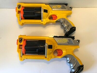 Nerf Maverick REV-6 N-STRIKE Dart Gun Yellow Pistol Handgun Lot Of 2