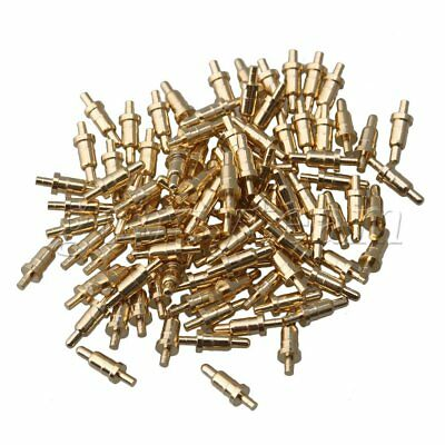 100x Gold-plated 6mm Copper Needles Probes Spring Pogo Pin Connector