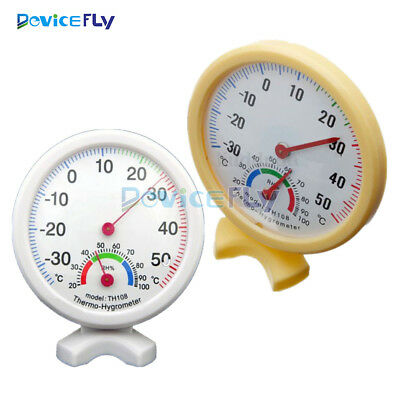 TH108 Large Dial Indoor Hygrometer Humidity Thermometer Temp Temperature Meter