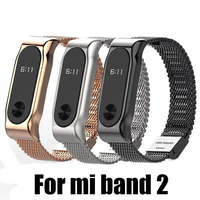 Smart Bracelet Stainless Steel Watch Band Strap Metal Wrist For Xiaomi Mi Band 2