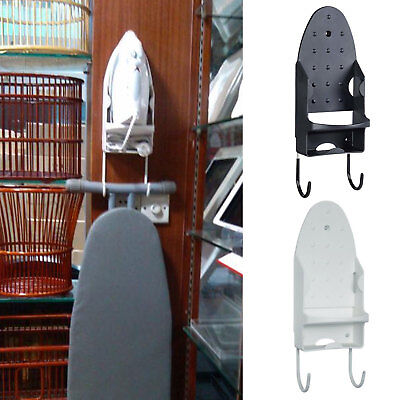 Ironing Board Holder Hanger Cupboard Door Wall Mount Storage Rack Black/White