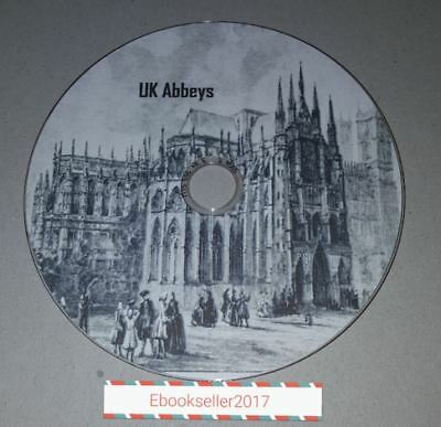Abbeys of the UK History, 36 ebooks: in mobi, epub and pdf formats on disc