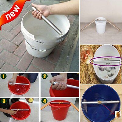 Spin Ringer Mice Log Roll Into Bucket Rolling Mouse Rats Stick Rodent Trap US HT
