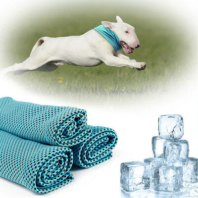 Dog Instant Cooling Bandana Pet Chill Ice Scarf Summer Collar Puppy Small Large
