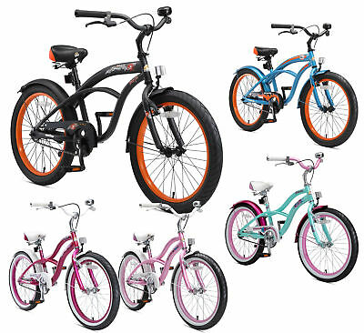 "BIKESTAR Kids Bike Children Bicycle Age 6+ Years Boys Girls | 20"" Inch Cruiser"