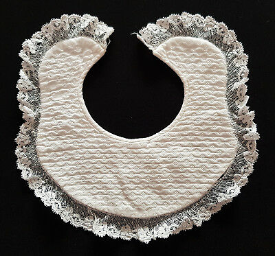 VINTAGE, ANTIQUE VICTORIAN EXQUISITE, BABY'S BIB ~ RARE PIECE of HISTORY