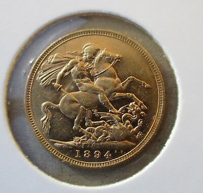 Gold Full Sovereign...year 1894