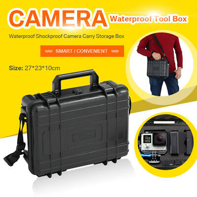 Waterproof Hard Carry Case Bag Camera Photography Storage Box+Free Form+Strap US