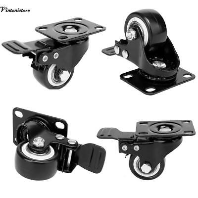 4pcs Heavy duty and durable Office Chair Caster Wheels 1.5 inch With Swivel Lock