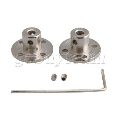 2Pieces 4-10mm Steel Rigid Flange Coupling Shaft Support Fixed Seat