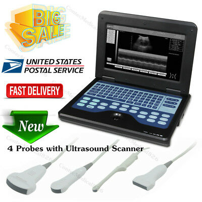 Portable Ultrasound Scanner Laptop Machine Convex/Linear/Cardiac/Tranvaginal,USA