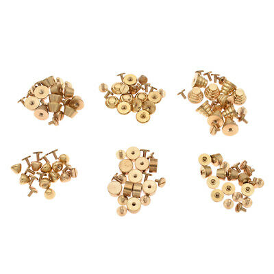 Brass Rivet Screws Button Stud DIY Solid Craft Accessories Leather Supplies