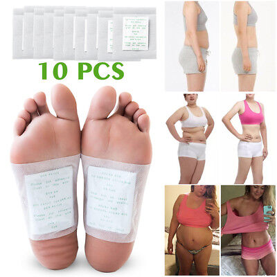10 x Cleansing Detox Pad Slimming Patches Foot Health Care Pastes Feet Stickers