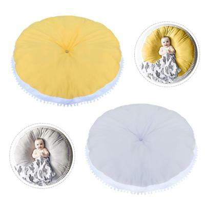 Children Carpet Baby Round Play Mat Cushion Cotton Woolen Ball Fabric Pad Decor