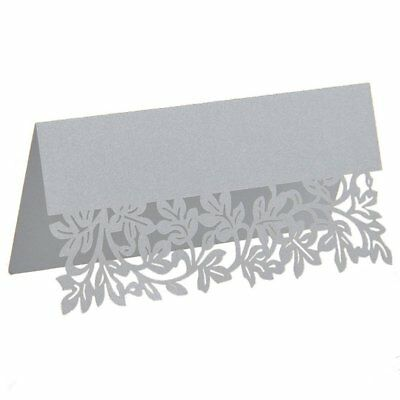 Cut Seat Cards Banquet Decorations For Wedding Birthday Party (60pcs Silver J1G5