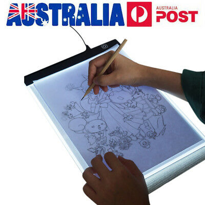 USB LED Light Writing Painting Tracing Board A4 Size Copy Pads Drawing Tablet AU