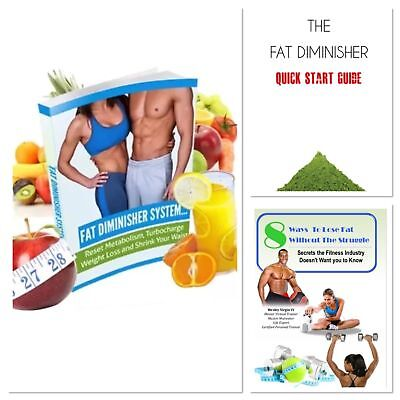 FAT DIMINISHER SYSTEM - Ultimate Weight Loss Guide with 2 Extra BOOKS!!