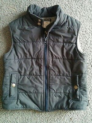 Boys 'Fred Bare' Navy Puffer Vest - Size 4 - VGC - Warm