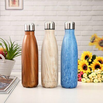 350-1000ml Stainless Steel Water Bottle Outdoor Camping Sport Cycling Climbing