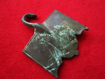 Amazing - HUGE - Ancient Roman bronze  Buckle  . 6 cm