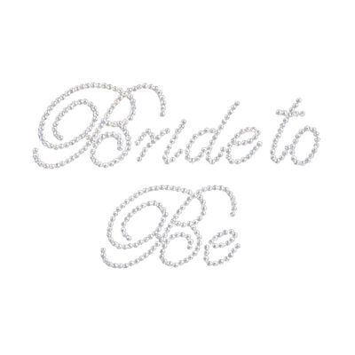 "White ""Bride to Be"" Rhinestone Sticker Bridal Wedding For DIY Party I7J1"