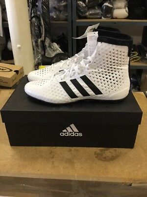 Adidas KO Legend 16.1 Boxing Boots Mens White & Black Sports Shoes Trainers