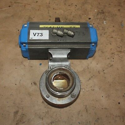 "DIN DN40 1.5"" Stainless food grade butterfly Valve VALBIA Pneumatic Actuator"