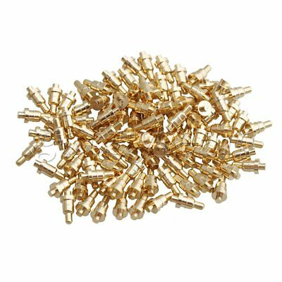 100 x Gold-plated 4.3mm Length Copper PCB Test Pin Thimble Pogo Pin