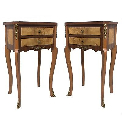 Pair Wood Commode Nightstands Corner table French Style louis xv