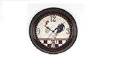 Hometime Wall Clock Deep Case Chrome Effect Vintage Style, 30cm w7429