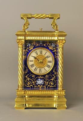 Exceptional Enamel Repeating Carriage Clock
