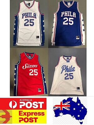 Philadephia Sixers Ben Simmons jerseys: white, blue, red or cream ; AU Stock