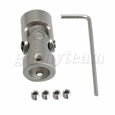35mm Length ID 10-10mm Steel Rotatable Universal Joint Connector Coupler