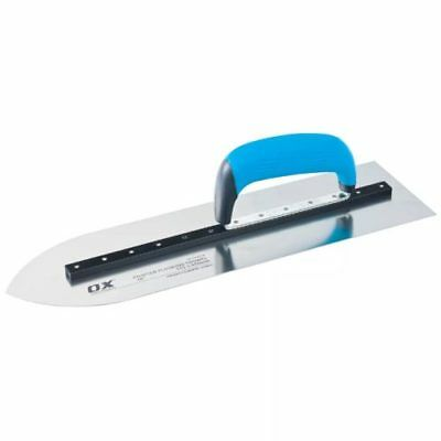 """OX Pro Pointed Concrete Flooring Trowel 16"""" or 18"""" Heavy Duty Concreting Tools"""