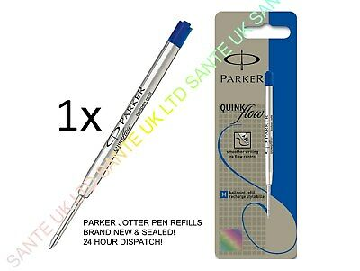 *buy 2 Get 1 Free* 1 X Blue Medium 1.0Mm Nib Parker Quink Ink Jotter Pen Refill
